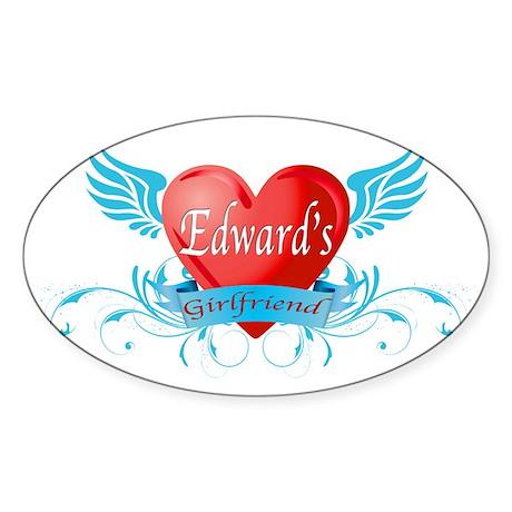Edward's girlfriend Oval Sticker