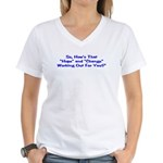 Hope and Change Women's V-Neck T-Shirt