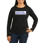 Hope and Change Women's Long Sleeve Dark T-Shirt