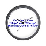 Hope and Change Wall Clock