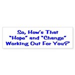 Hope and Change Bumper Sticker (10 pk)