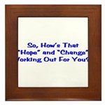 Hope and Change Framed Tile