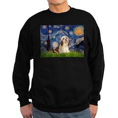 Starry / Lhasa Apso #4 Sweatshirt (dark)