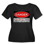 No Obama Zone Women's Plus Size Scoop Neck Dark T-