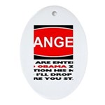 No Obama Zone Oval Ornament