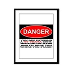 No Obama Zone Framed Panel Print