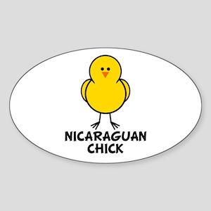 Nicaraguan Chick Oval Sticker