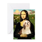 Mona / Lhasa Apso #4 Greeting Card