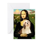 Mona / Lhasa Apso #4 Greeting Cards (Pk of 10)