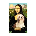 Mona / Lhasa Apso #4 Sticker (Rectangle)