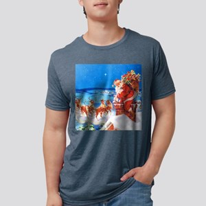 Santa and His Reindeer Up On a Snowy T-Shirt