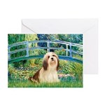 Bridge / Lhasa Apso #4 Greeting Card