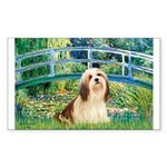 Bridge / Lhasa Apso #4 Sticker (Rectangle)