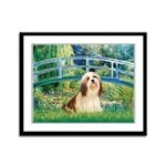 Bridge / Lhasa Apso #4 Framed Panel Print