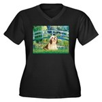 Bridge / Lhasa Apso #4 Women's Plus Size V-Neck Da