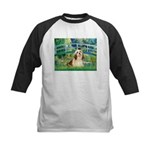 Bridge / Lhasa Apso #4 Kids Baseball Jersey