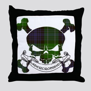 Abercrombie Tartan Skull Throw Pillow