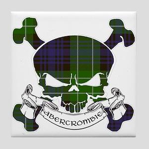 Abercrombie Tartan Skull Tile Coaster