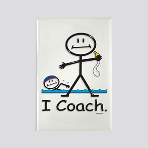 Swimming Coach Rectangle Magnet