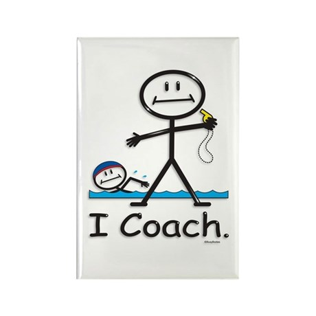 Swimming Coach Rectangle Magnet (10 pack)
