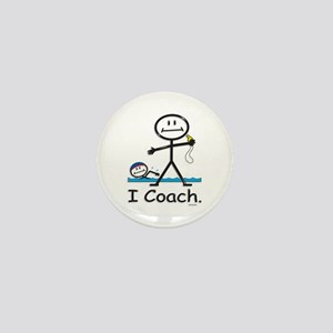 Swimming Coach Mini Button