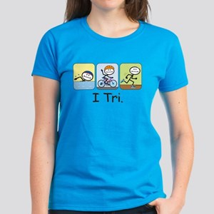 Triathlon Stick Figure Women's Dark T-Shirt