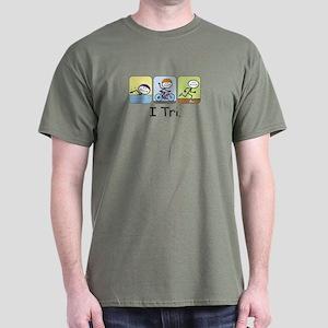 Triathlon Stick Figure Dark T-Shirt