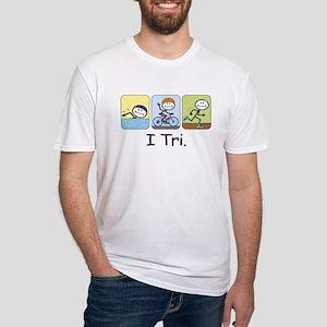 Triathlon Stick Figure Fitted T-Shirt