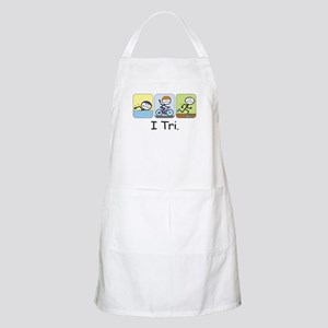 Triathlon Stick Figure BBQ Apron