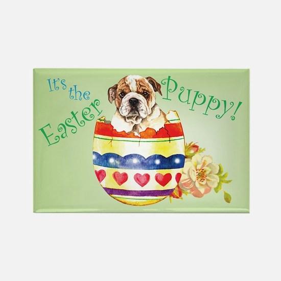 Easter Bulldog Rectangle Magnet