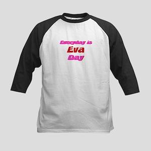 Everyday is Eva Day Kids Baseball Jersey