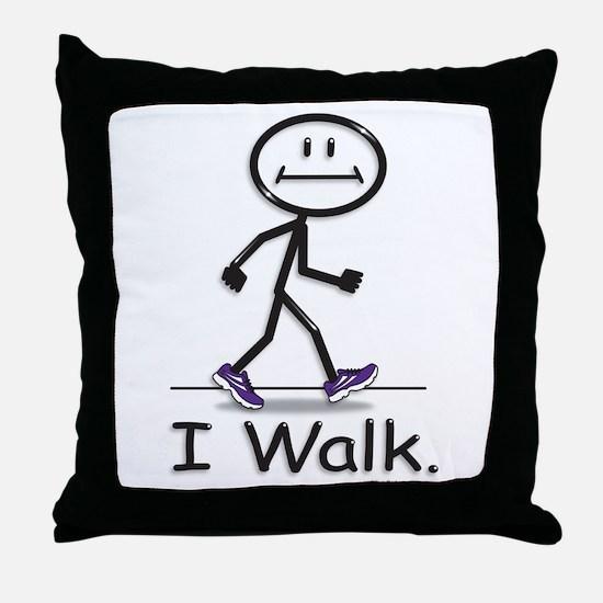 BusyBodies Walking Throw Pillow