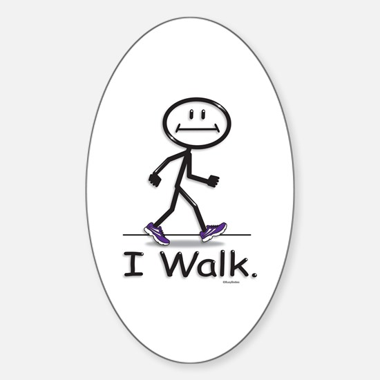 BusyBodies Walking Oval Bumper Stickers