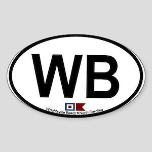 Wrightsville Beach NC Oval Sticker