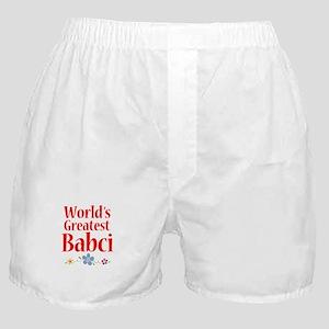 World's Greatest Babci Boxer Shorts
