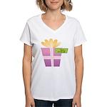 Papa's Favorite Gift Women's V-Neck T-Shirt
