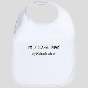 I'm in Charge Malamute Bib