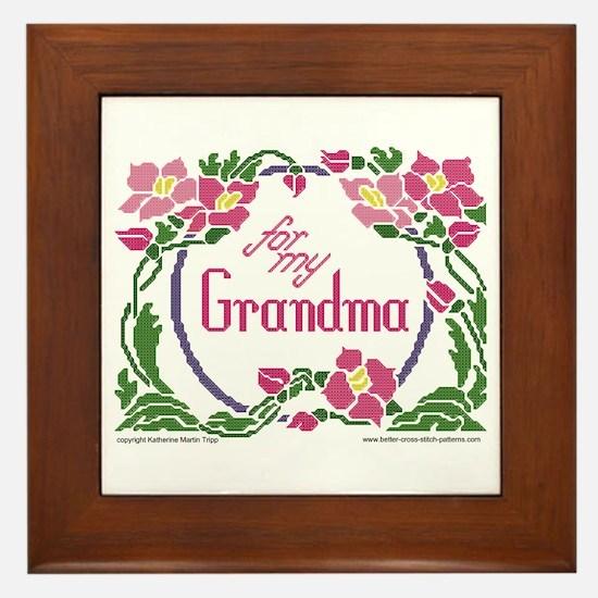 For My Grandma Framed Tile