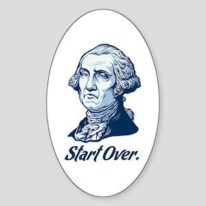 Start Over Oval Sticker