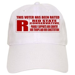 Rated R Red State Conservative Baseball Cap