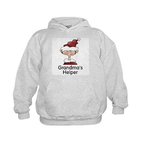 Grandma's Helper Boy Elf Kids Hoodie