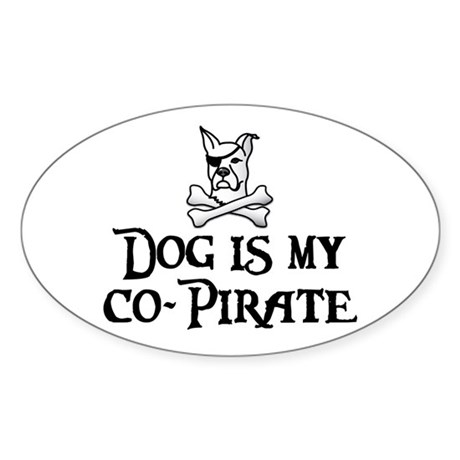 Co-Pirate Oval Sticker