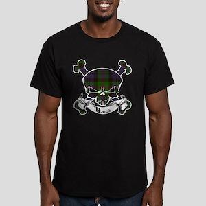 Baird Tartan Skull Men's Fitted T-Shirt (dark)