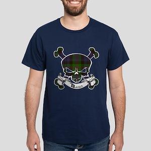 Baird Tartan Skull Dark T-Shirt
