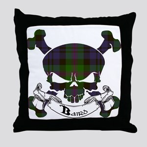 Baird Tartan Skull Throw Pillow