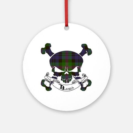 Baird Tartan Skull Ornament (Round)