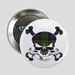 "Baird Tartan Skull 2.25"" Button"
