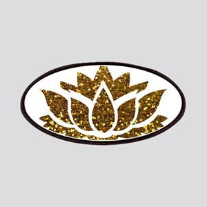 Gold Glitter Lotus Patch