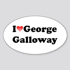 I Love Galloway Oval Sticker