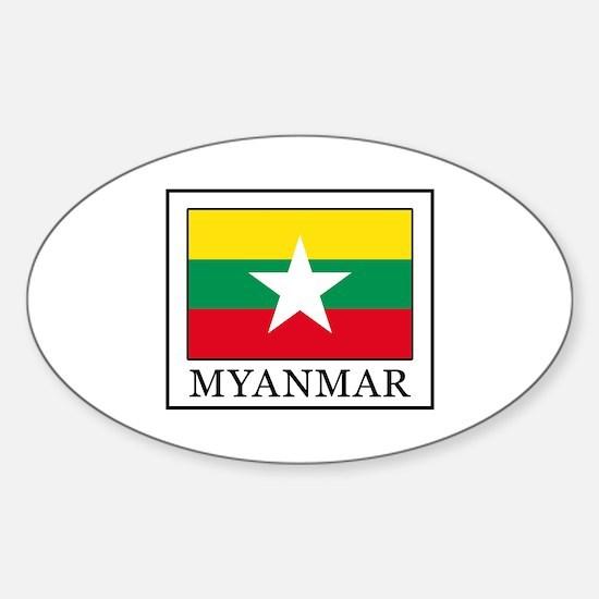 Funny Bagan Sticker (Oval)